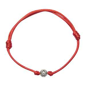 Red String Bracelet with Silver