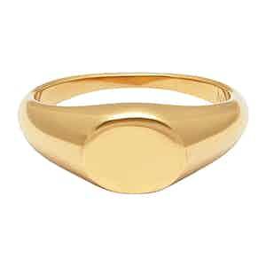 Gold Mini Signet Ring