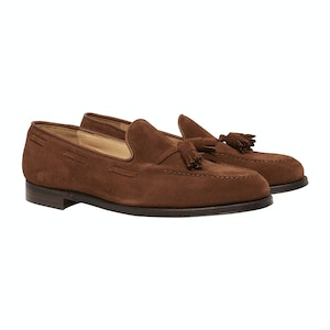 Brown Polo Suede Gabrielle Tasselled Loafers