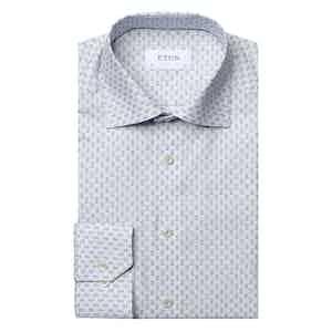 Blue Medallion Slim Cotton Poplin Shirt