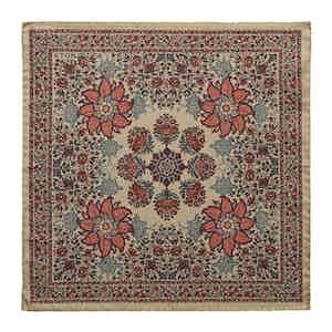 Brown Silk-Cotton Mosaic Print Pocket Square