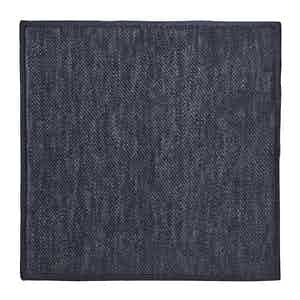 Navy Silk-Linen Knit Pocket Square