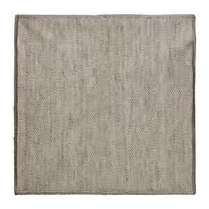 Beige Silk-Linen Knit Pocket Square