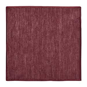 Red Silk-Linen Knit Pocket Square