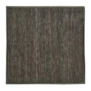 Green Silk-Linen Knit Pocket Square