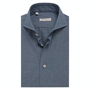 Blue Denim Extreme Cutaway Collar Shirt