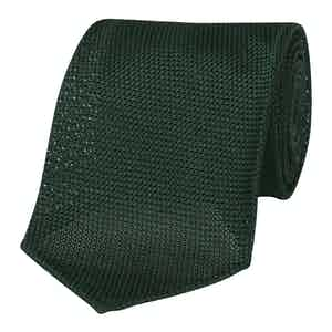 Forest Green Silk Grenadine Seven-Fold Tie