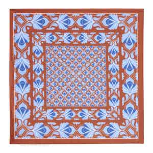 Orange and Blue Silk Pocket Square