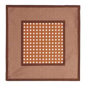 Copper Dot Silk Pocket Square