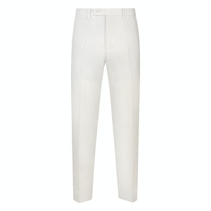 White Linen Casual Trousers