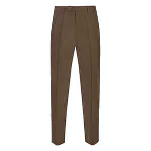 Brown Linen Casual Trousers
