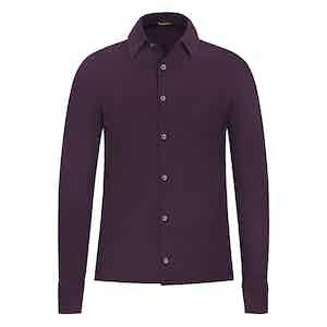 Burgundy Piqué Cotton Shirt