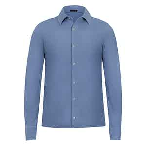 Blue Long Sleeved Denim Shirt