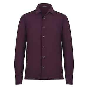 Burgundy Wool Shirt