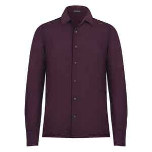 Burgundy Wool Shirt