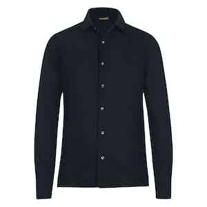 Blue Wool Shirt