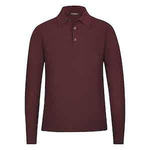 Burgundy Cashmere Polo Shirt