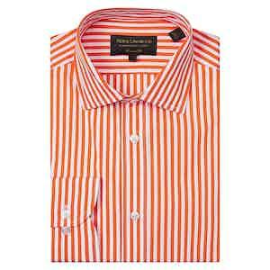 Orange Bengal-Striped Cotton Shirt