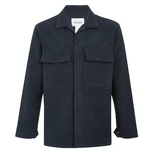 Navy Cotton Moleskin WS50 Work Shirt