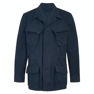 Navy Blue Cotton Canvas J002 Jungle Jacket
