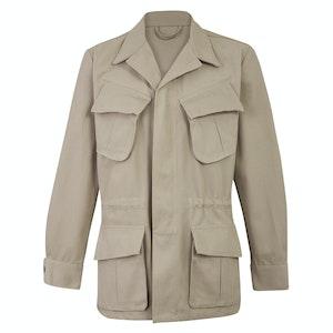 Stone Grey Cotton Canvas J002 Jungle Jacket