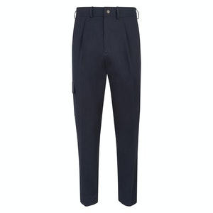 Navy Blue Cotton T012 Cargo Trousers