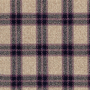 Pink and Brown Wool-Silk-Linen-Polyamide Hopsack Fabric