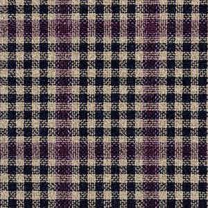 Purple and Brown Wool-Silk-Linen-Polyamide Hopsack Fabric