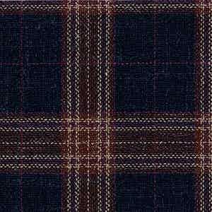 Navy Worsted Wool-Silk-Linen-Polyamide Hopsack Fabric