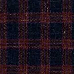 Red and Navy Worsted Wool-Silk-Linen-Polyamide Hopsack Fabric