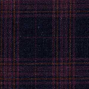 Blue and Pink Wool-Silk-Linen-Polyamide Hopsack Fabric