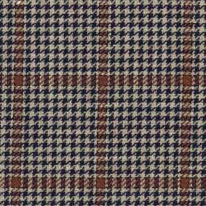 Brown and Navy Linen-Silk-Cotton Batavia Worsted Fabric