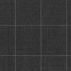 Charcoal Grey Prince of Wales Check Plain Wool Fabric