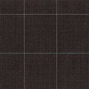 Brown Prince of Wales Check Plain Wool Fabric