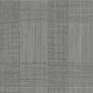 Grey Prince of Wales Check Light Panama Wool Fabric