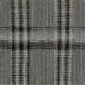 Mid-Grey Prince of Wales Check Light Panama Wool Fabric