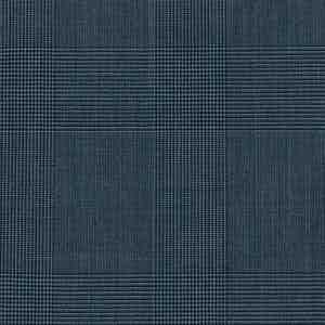 Blue-Grey Prince of Wales Check Light Panama Wool Fabric