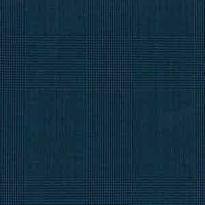 Slate Blue Prince of Wales Check Light Panama Wool Fabric