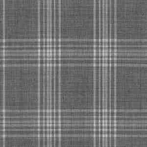 Grey Prince of Wales Check Light Panama Virgin Wool Fabric