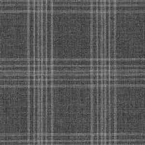 Steel Grey Prince of Wales Check Light Panama Wool Fabric