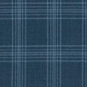 Grey-Blue Prince of Wales Check Light Panama Wool Fabric