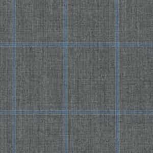 Blue-Grey Overcheck Light Panama Wool Fabric