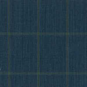 Blue-Green Overcheck Light Panama Wool Fabric