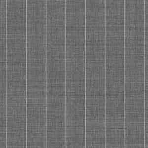 Grey Broad Pinstripe Light Panama Virgin Wool Fabric