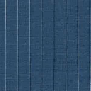 Slate Blue Pinstripe Light Panama Virgin Wool Fabric