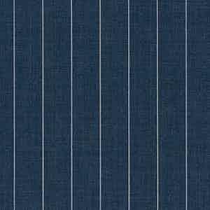 Steel Blue Pinstripe Light Panama Virgin Wool Fabric