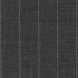 Dark Grey Broad Pinstripe Light Panama Virgin Wool Fabric