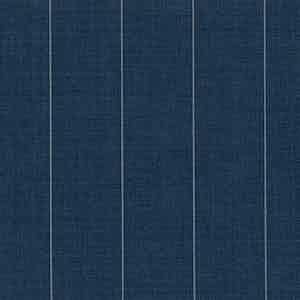 Slate Blue Broad Pinstripe Light Panama Virgin Wool Fabric