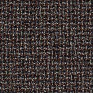 Brown Batavia Weave Worsted Wool-Polyamide-Silk-Linen Fabric