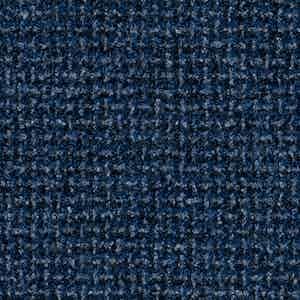 Blue Batavia Weave Worsted Wool-Polyamide-Silk-Linen Fabric